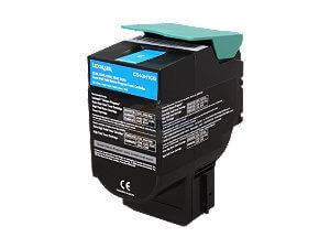 Lexmark X544N Cyan Toner Cartridge -  High Yield, Genuine