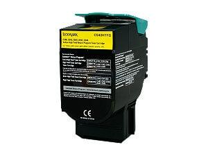 Lexmark X544N Yellow Toner Cartridge -  High Yield, Genuine