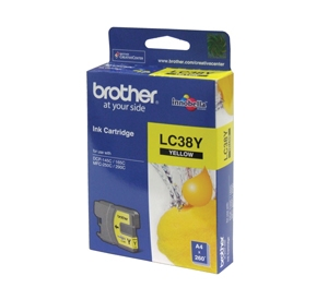 Brother Yellow Ink Cartridges LC38Y