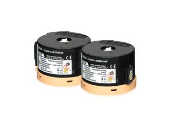 Epson C13S050710 Double Black Toner Cartridge Pack (2,500 pages each)