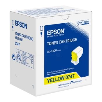 Epson C13S050747 Yellow Toner Cartridge- 8,800 pages
