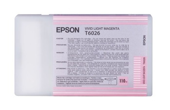 Epson T6026 Light Magenta Ink Cartridge- Single Pack