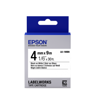 Epson Label Cartridge Standard LK-1WBN Black/White 4mm (9m)