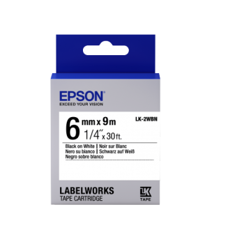 Epson Label Cartridge Standard LK-2WBN Black/White 6mm (9m)