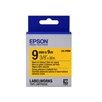 Epson Label Cartridge Strong Adhesive LK-3 Series 9mm (9m)