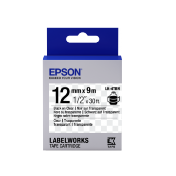 Epson Label Cartridge Transparent LK-4 Series 12mm (9m)