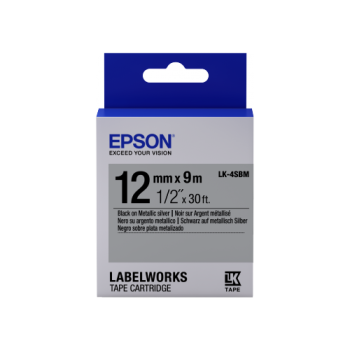 Epson Label Cartridge Metallic LK-4 Series 12mm (9m)