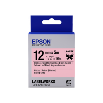 Epson Label Cartridge Satin Ribbon LK-4 Series 12mm (5m)