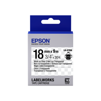 Epson Label Cartridge Transparent LK-5 Series 18mm (9m)