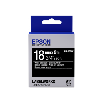 Epson Label Cartridge Vivid LK-5BWV White/Black 18mm (9m)