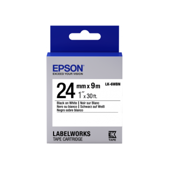 Epson Label Cartridge Standard LK-6WBN Black/White 24mm (9m)