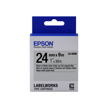 Epson Label Cartridge Matte LK-6SBE Black/Matt Silver 24mm (9m)