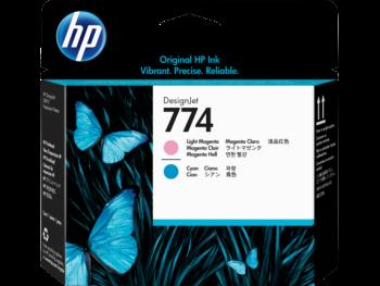HP 774 Light Cyan and Light Magenta DesignJet Printhead