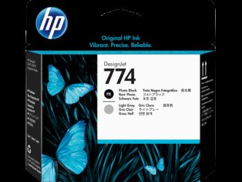 HP 774 Photo Black and Light Grey DesignJet Printhead