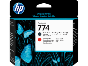 HP 774 Matte Black and Chromatic Red DesignJet Printhead