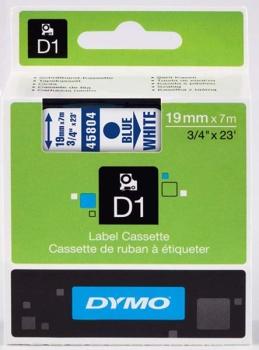 Dymo S0720840 D1 Tape 19mm Blue on White