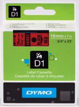 Dymo S0720870 D1 Tape 19mm Black on Red