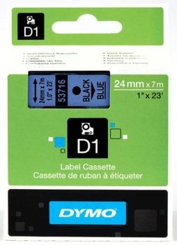 Dymo S0720960 D1 Tape 24mm Black on Blue
