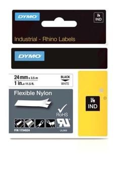 Dymo Rhino S0773840 24mm White Flexible Nylon Tape