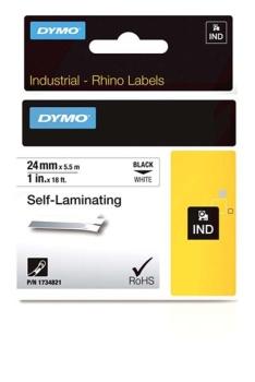 Dymo Rhino S0773860 24mm White 6000 Self Laminating Vinyl